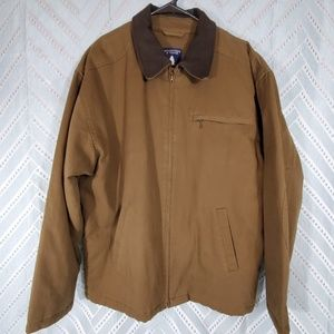 Roundtree & Yorke Men's Outdoor Coat Brown Large
